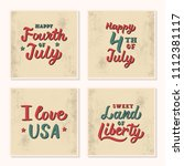 a set of vintage cards with... | Shutterstock .eps vector #1112381117