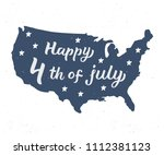 happy 4th of july. independence ... | Shutterstock .eps vector #1112381123