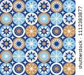 folk stars seamless pattern....   Shutterstock .eps vector #1112383877
