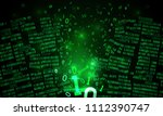 abstract futuristic cyberspace... | Shutterstock .eps vector #1112390747