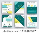 business brochure flyer design...   Shutterstock .eps vector #1112403527