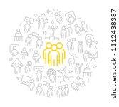 set of vector human resources... | Shutterstock .eps vector #1112438387