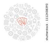 set of vector gambling and... | Shutterstock .eps vector #1112438393