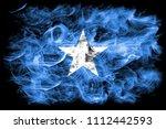 somalia smoke flag | Shutterstock . vector #1112442593