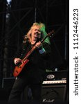 """Small photo of Vigevano Italy, from 13 June to 24 July 2012, live concerts """"10 Giorni Suonati 2012"""" Festival at the Castle of Vigevano: Wednesday 13 June 2012, the guitarist of Molly Hatchet,Bobby Ingram"""