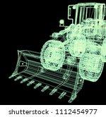 3d model bulldozer | Shutterstock . vector #1112454977