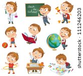 back to school. cute... | Shutterstock .eps vector #111246203