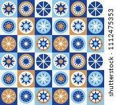 folk stars seamless pattern....   Shutterstock .eps vector #1112475353