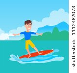 surfing activity and boy...   Shutterstock .eps vector #1112482073