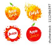 apple juice label splash set... | Shutterstock .eps vector #1112486597