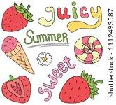 juicy sweet summer illustration ...   Shutterstock .eps vector #1112493587