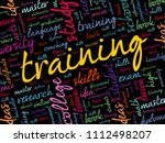 training word cloud collage ... | Shutterstock .eps vector #1112498207
