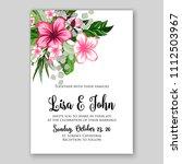 tropical summer floral wedding... | Shutterstock .eps vector #1112503967