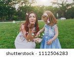 beautiful woman in light dress... | Shutterstock . vector #1112506283
