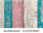 textured colorful wooden planks ... | Shutterstock . vector #1112515067