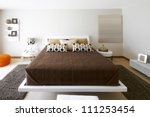 Interior design: Modern Bedroom - stock photo
