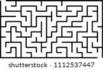 labyrinth of medium complexity. ... | Shutterstock .eps vector #1112537447