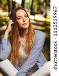 beautiful girl with long hair   Shutterstock . vector #1112539967