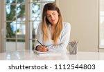 beautiful young woman thinking...   Shutterstock . vector #1112544803