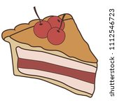 delicious piece of cake pie | Shutterstock .eps vector #1112546723