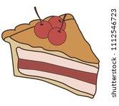 delicious piece of cake pie | Shutterstock .eps vector #1112546723