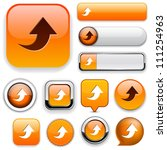 upload orange design elements... | Shutterstock .eps vector #111254963