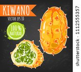 kiwano. fresh fruit bright...   Shutterstock .eps vector #1112555357