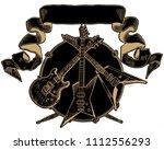 heavy metal coat of arms....   Shutterstock .eps vector #1112556293