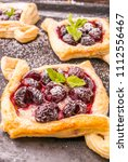homemade puff pastry with...   Shutterstock . vector #1112556467