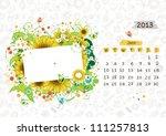 Vector Calendar 2013  June....