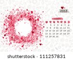 Vector calendar 2013, october. Frame with place for your text or photo - stock vector