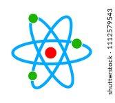 atom icon   vector molecule... | Shutterstock .eps vector #1112579543