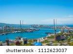 vladivostok cityscape  daylight ... | Shutterstock . vector #1112623037