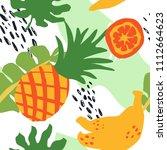 minimal summer trendy vector... | Shutterstock .eps vector #1112664623