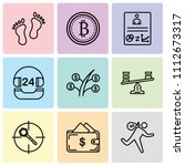set of 9 simple editable icons... | Shutterstock .eps vector #1112673317