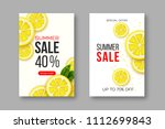 summer sale banners with sliced ... | Shutterstock .eps vector #1112699843