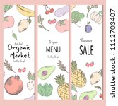 healthy food banner collection. ... | Shutterstock .eps vector #1112703407