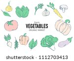 healthy food banner collection. ... | Shutterstock .eps vector #1112703413