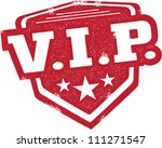 VIP Very Important Person Badge Stamp - stock vector