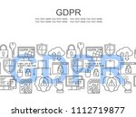 vector gdpr   general data... | Shutterstock .eps vector #1112719877