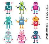robots vector set | Shutterstock .eps vector #111272513