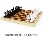 the beginning of a chess party  ... | Shutterstock . vector #11127421