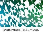 dark blue  green vector polygon ... | Shutterstock .eps vector #1112749007