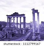 rome ruins in color of the year ... | Shutterstock . vector #1112799167