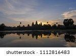 sunrise at  angor wat  world... | Shutterstock . vector #1112816483