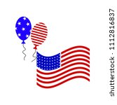 flag balloon july fourth icon | Shutterstock .eps vector #1112816837