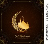 abstract eid mubarak background ... | Shutterstock .eps vector #1112827193