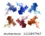 collection of acrylic colors in ... | Shutterstock . vector #1112857967