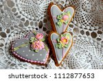 ginger bread with icing | Shutterstock . vector #1112877653