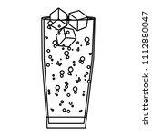 line port liquor glass with ice ...   Shutterstock .eps vector #1112880047